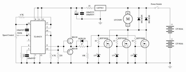 Electronica projects for Universal motor speed control circuit